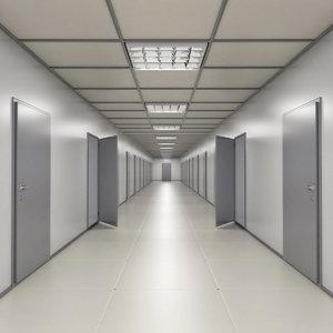 3d model corridor