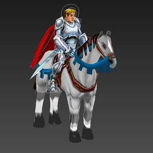 3d horseman mobile knight model