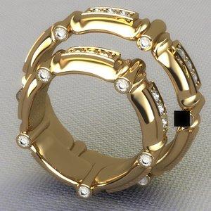 3d ring gem model