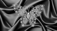 3d butterfly brooch model