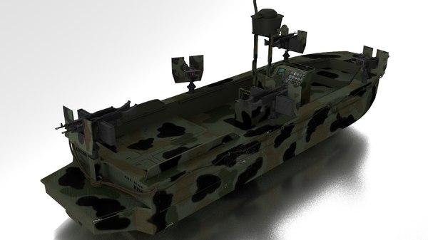 3d boat navy seals model