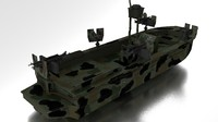 3d boat navy seals model
