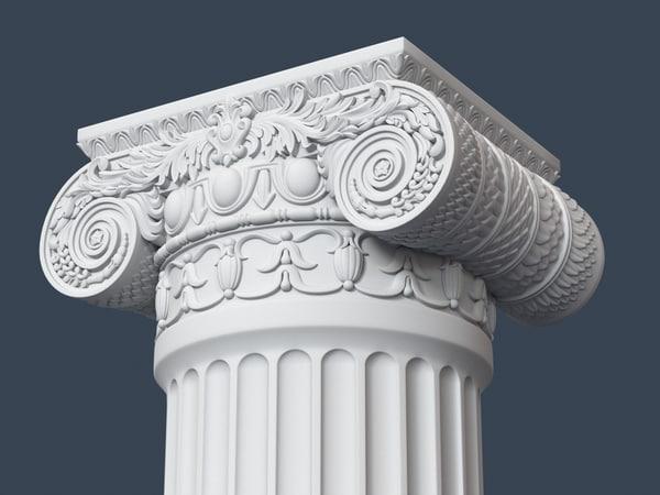 capital column obj