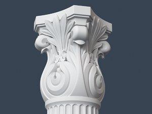 3d capital column model