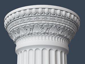 capital column 3d max