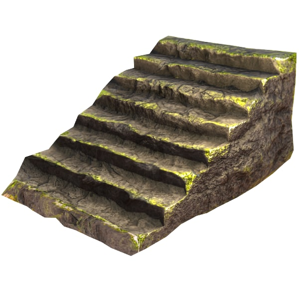 3d rocky games staircase