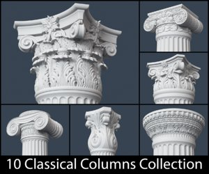 3d classical column model