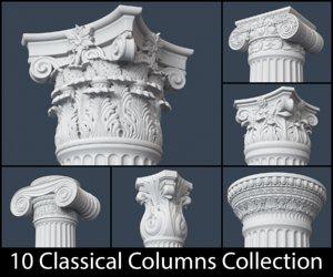 3d classical column model