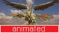 dragon(garuda) ma mb fbx obj