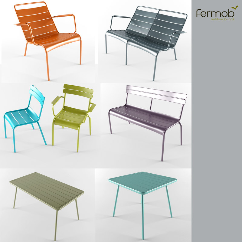 3d model luxembourg fermob furniture