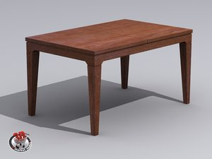 3dsmax wood table