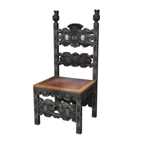 medieval chair furniture 3d model