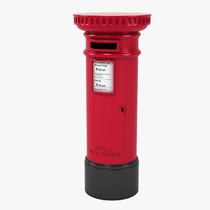 british mailbox 3d model