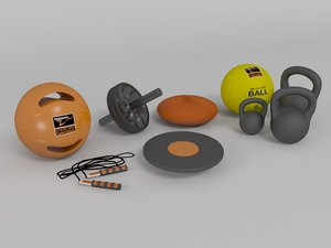 fitness equipments 3d model
