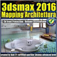 033 3ds max 2016 Mapping Architettura vol 33 Italiano cd front