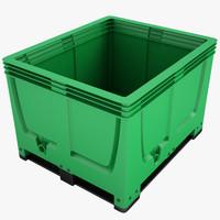 3d plastic crate