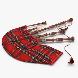 bagpipes red 3d model