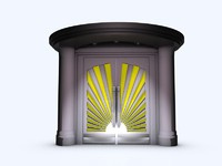 3d art deco doors model