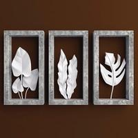 3d leaf shadowbox sculptures