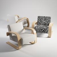 3d model armchair 400