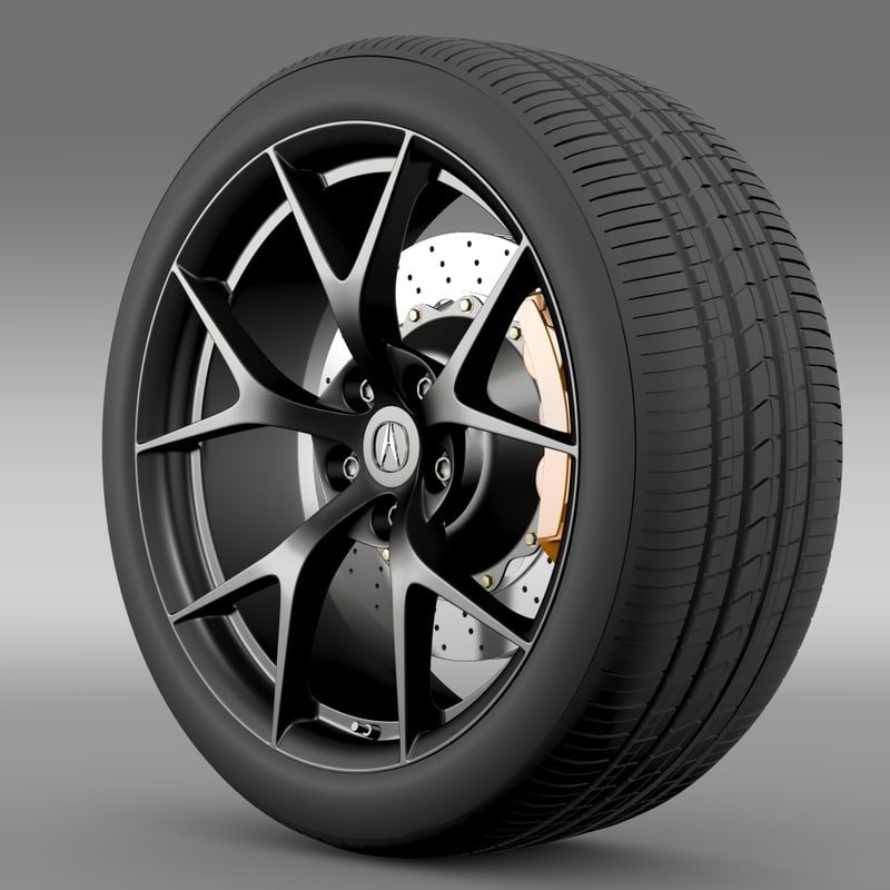 acura nsx wheel 2015 3d model
