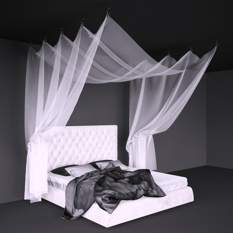 3d bonaldo bed canopy model