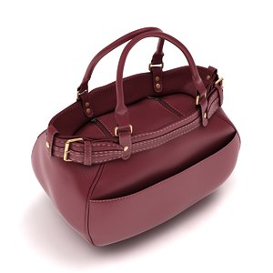 3d model ladies hand bag