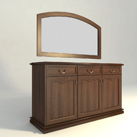 drawers mirror 3d model