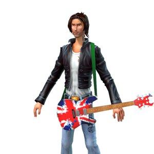 rock guitar 3d model