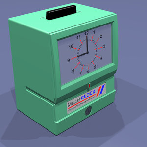 3d model time punch clock