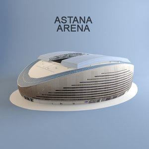 astana arena football stadium 3d max