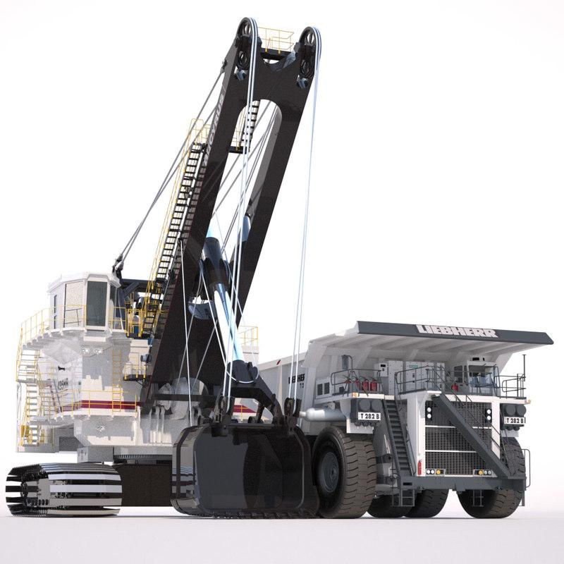3d model mining machines