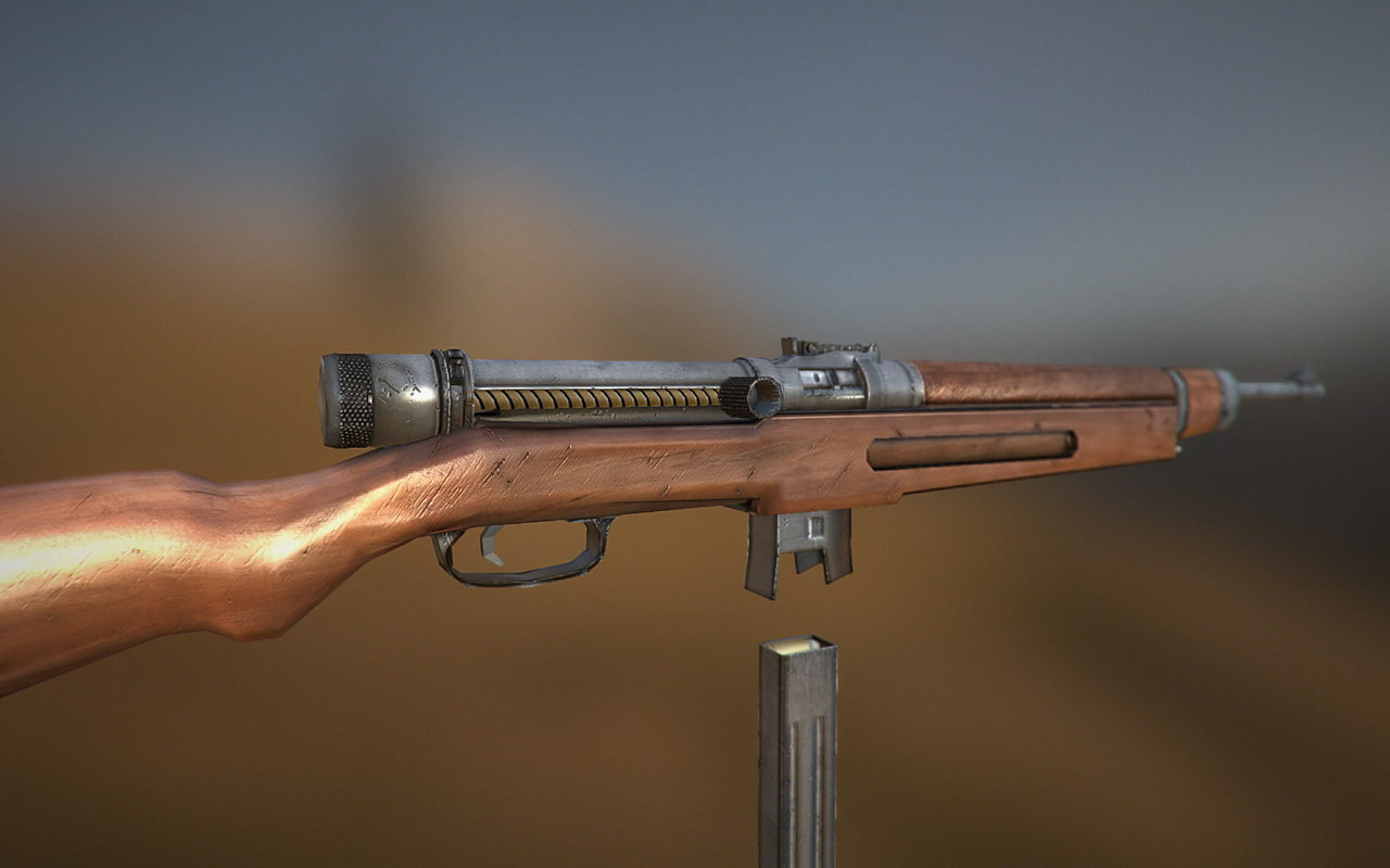 ww2 gun 3d max