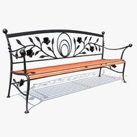 forged bench 3d model