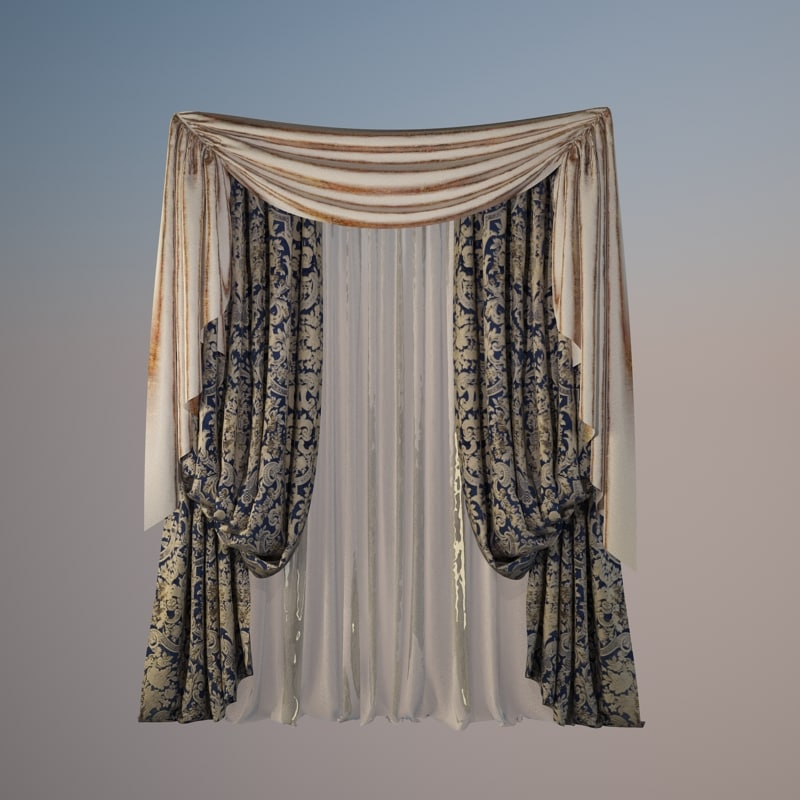 3d 3ds classic curtain