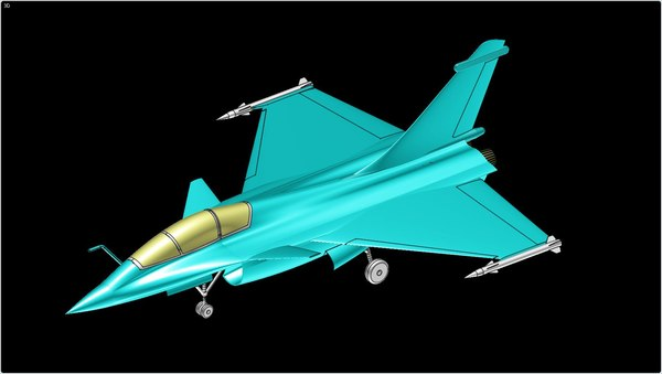 3d model french rafale aircraft solid