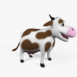 3d model of character cow