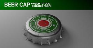 beer cap 3d model