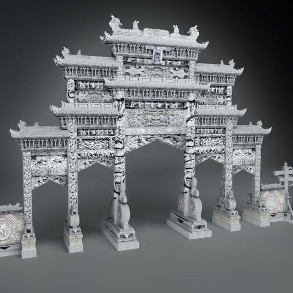 3d model gate