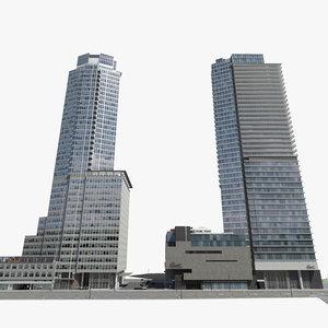 3d block buildings