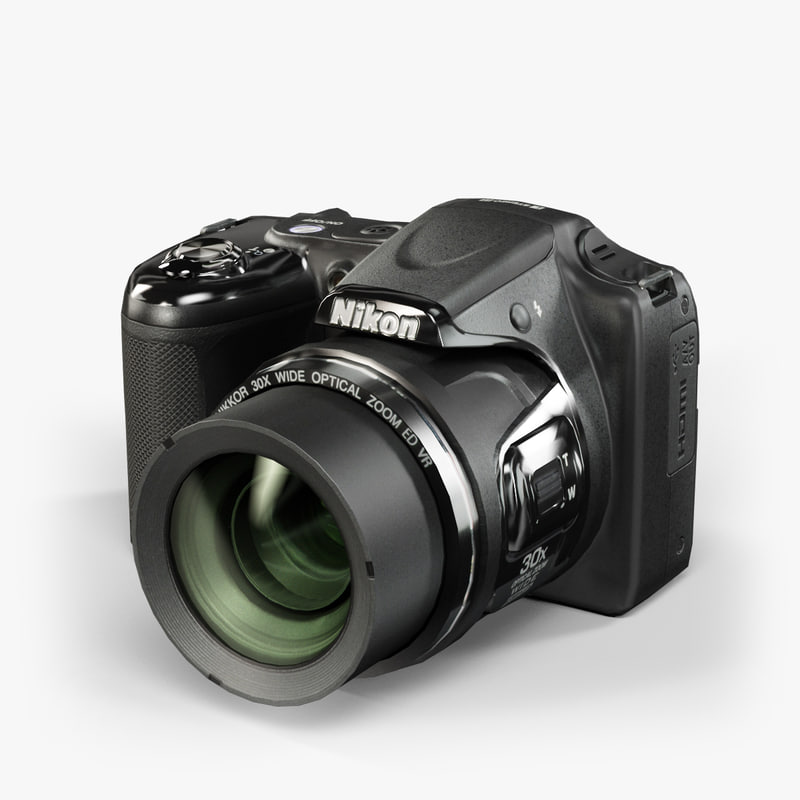 3d model low-poly nikon coolpix l820