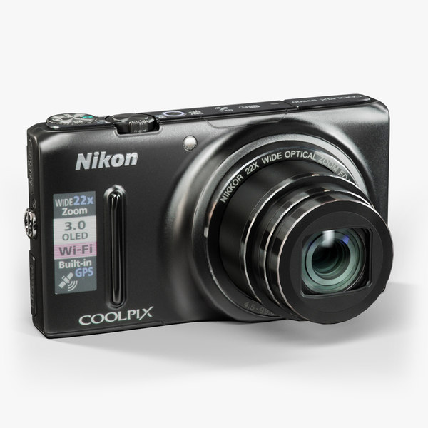 low-poly nikon coolpix s9500 3d model