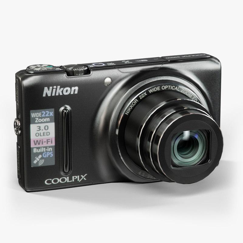 low-poly nikon coolpix s9500 3d model