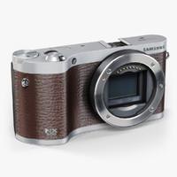 low-poly samsung nx300 brown 3d model