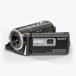 maya low-poly sony hdr-pj580 black