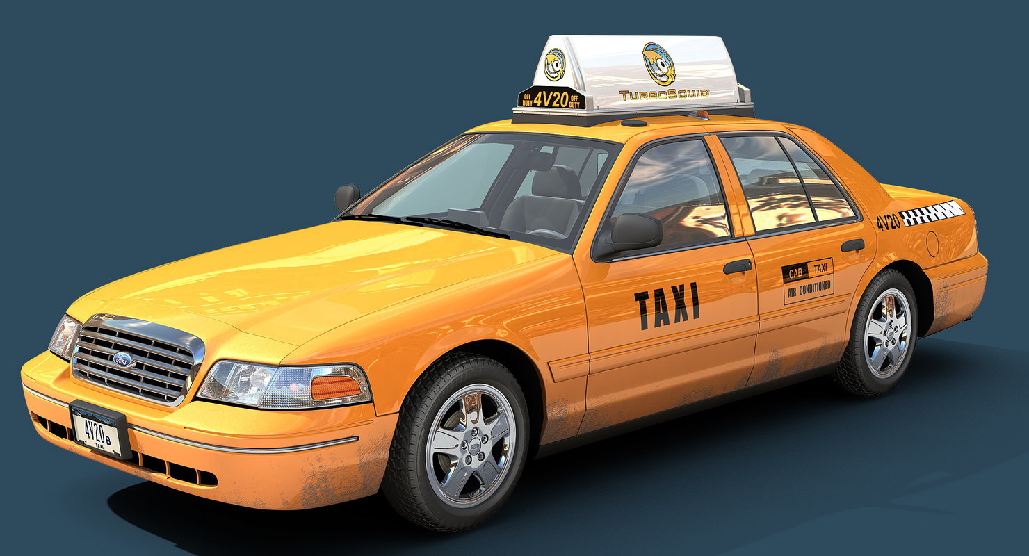 3d new york taxi model. Black Bedroom Furniture Sets. Home Design Ideas