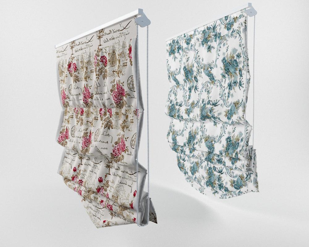 3d model of roman curtains