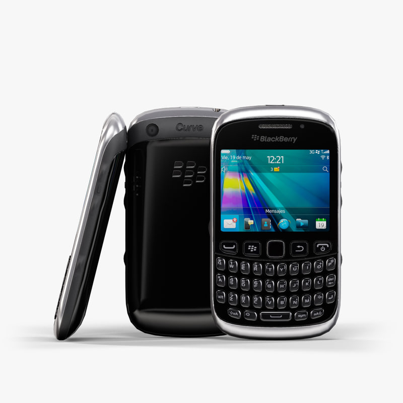 max low-poly blackberry curve 9320