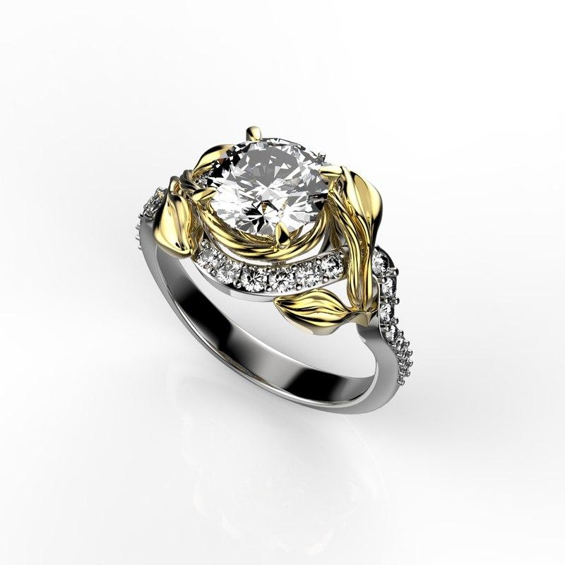 1 gold ring 3d 3dm