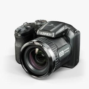 3d low-poly fujifilm finepix s4800